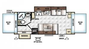 Rockwood Trailers Floor Plans Forest River Rockwood Roo 23ws Hybrid Trailer Floor Plan