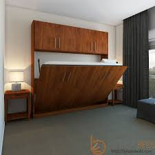 Queen Murphy Bed Kit With Desk Horizontal Urban Murphy Bed With Top Hutch Wall Desk Image4 Msexta