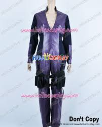 Resident Evil Halloween Costume Resident Evil Retribution Cosplay Jill Valentine Purple Jumpsuit