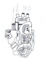 steampunk heart tattoo sketch by kagemane123 on deviantart