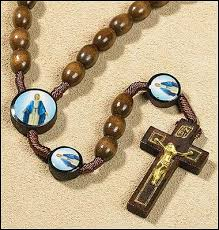 wooden rosary our of grace corded wooden rosary