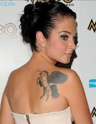 tulisa contostavlos tattoos wings on back pretty