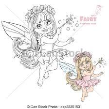 vectors spring fairy magic wand color
