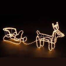 large christmas reindeer u0026 sleigh light up outdoor garden led
