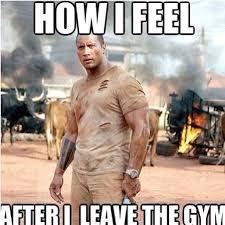 Gym Relationship Memes - how i feel after i leave the gym the rock alpha male motivation