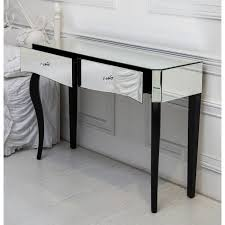 Black Console Table Black Mirrored Console Table Table Designs