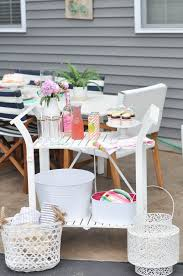 Homemade Patio Table by Diy Painted Patio Bar Cart Plus Easy Patio Happy Hour Ideas