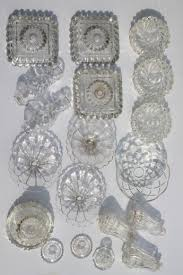 Crystal Parts For Chandeliers Vintage Pressed Glass Lamp Bases U0026 Parts Lot Bobeches For