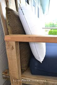 Pallet Sofa Cushions by How I Built The Pallet Wood Sofa Part 2 Funky Junk Interiors