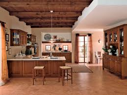 minimalist kitchen design with visible beam ceiling solid wood