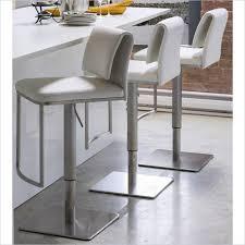 White Leather Bar Stool The 35 Stylish Modern Adjustable White Leather Bar Stools