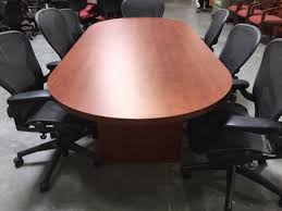 Krug Conference Table Cherry 96x42 Table Office Pre Owned Tables In Cherry