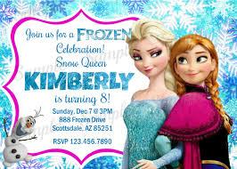 Customized Birthday Invitation Cards Personalized Frozen Birthday Invitations Reduxsquad Com