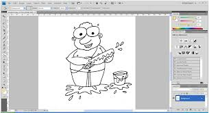 easy coloring cartoon photoshop beginners
