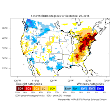 Map Of Northeast Usa by Drought September 2016 State Of The Climate National Centers