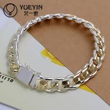 silver bracelet styles images Handmade mixed styles silver plated mens bracelet designs new jpg