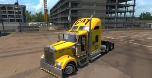 kw trucks pictures kenworth w900 caterpillar skin for ats american truck simulator