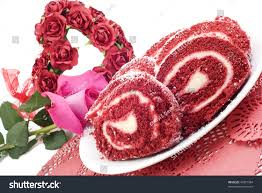 valentines red velvet cake roll on stock photo 43927984 shutterstock