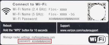 how to reset verizon router password fios quantum gateway router verizon internet support