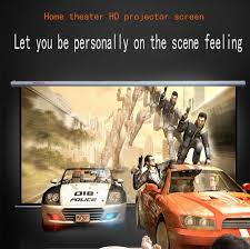retractable home theater screen 84 inch projection screen 16 9 hd screen home theater projector