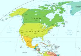 map of north and central america blank map of north and central