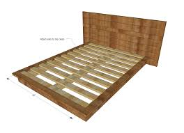 Platform Bed With Drawers King Plans by Ana White Rustic Modern 2x6 Platform Bed Diy Projects