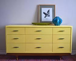 poppyseed creative living yellow mid century modern dresser credenza