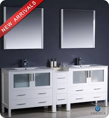 84 inch double sink bathroom vanities 84 fresca torino fvn62 361236wh uns modern double sink bathroom