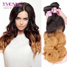 Black To Brown Ombre Hair Extensions by Yvonne Ombre Brazilian Hair T1b 30 Single Bundle 100g Body Wave