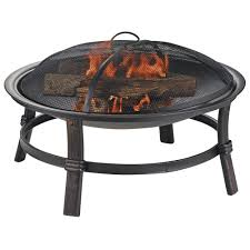 wood fire pit table 2 fire pit black outdoor living kits hardscapes the home depot