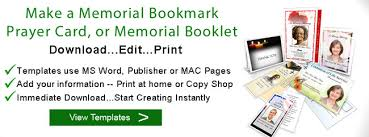 how to make a funeral or memorial prayer card