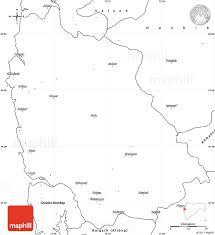 Blank Map Of Central Asia by Blank Simple Map Of Thane