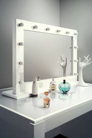 Tabletop Vanity Mirrors With Lights Anastasia White High Gloss Mirror Grand Light Mirrors