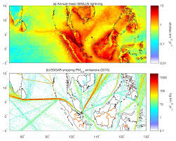 Lightning Maps Exhaust Makes Oceanic Thunderstorms More Intense