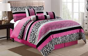 pink red purple black green beige bedding sets ease bedding with 7 piece oversize hot pink black white zebra leopard micro fur comforter set full size bedding
