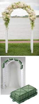 wedding arches in church wedding arch flowers foam cages for arch flowers