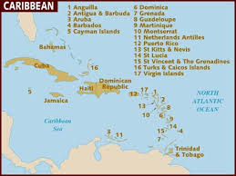 carribbean map map of caribbean