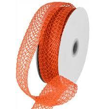 jute ribbon flex faux jute ribbon orange