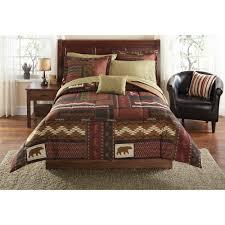 Bed In A Bag Set Mainstays Bed In A Bag Bedding Comforter Set Teal Patch Walmart