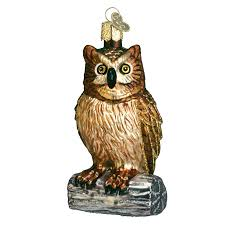 wise owl ornament chris s squirrels and more