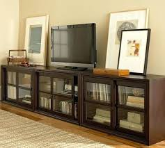 Media Cabinet Glass Doors Media Cabinet Glass Door Media Stand Pottery Barn For