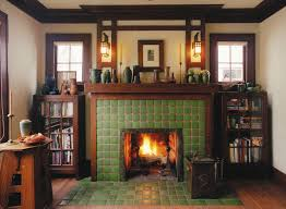 simple craftsman tile fireplace decoration ideas cheap top to