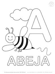 alphabet coloring pages in spanish spanish alphabet coloring pages mr printables