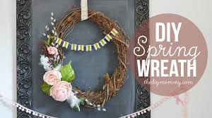 how to make a spring grapevine wreath youtube