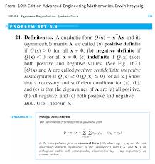 a quadratic form q x u003d x tax and its symmetric chegg com