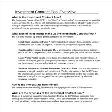 investment contract template 7 free sample example formats