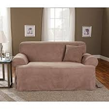 amazon com sure fit soft suede t cushion loveseat slipcover