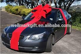 car bow ribbon 36 inch christmas flocked velvet ribbon 3d structural