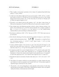 How Many Years In A Light Year Sscp 1143 Mechanics Tutorial 1