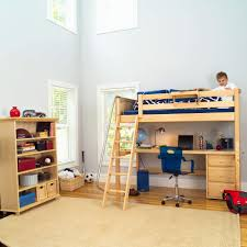 Bunk Bed With Play Area by Twin Loft Bed With Desk And Storage Best Home Furniture Decoration